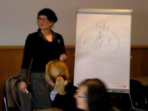 Wibke Ladwig im Social Media Workshop
