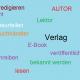 Grafik mit Schlagwörtern zu Buch und Verlag